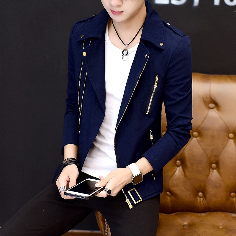 2020 Handsome Gentleman Personality Jacket Zipper Jacket Lapel