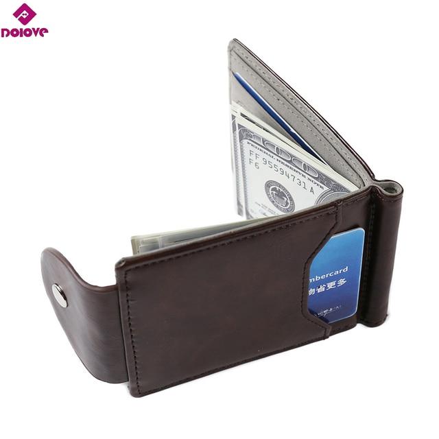 dolove latest slim leather clip wallet for men best front pocket wallet with credit card - Best Credit Card Holder