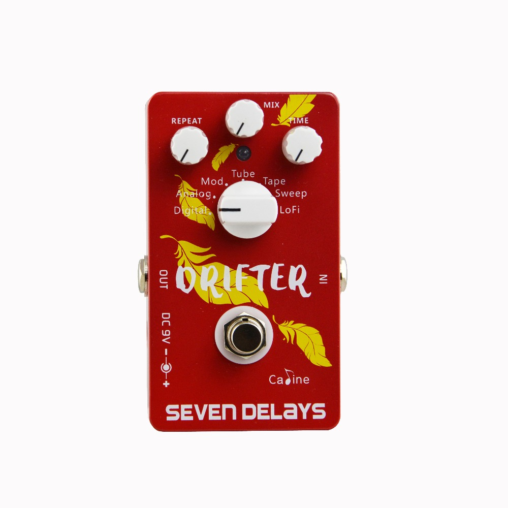 New Arrival Caline CP-37 Seven Delay Guitar Effect Pedal Digital Circuit Design Aluminum Alloy Housing Pedal Guitar Accessaries free shipping new 6 strings electric bass guitar bridge in gold su 23