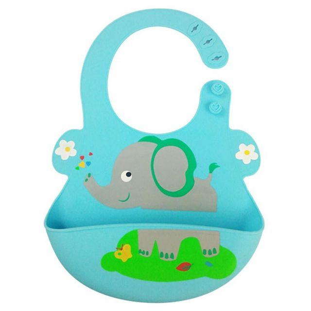 6 colors Hot Baby bibs waterproof silicone feeding baby saliva towel newborn cartoon waterproof aprons Baby Bibs