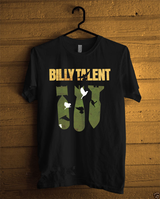 New Fashion Short-Sleeve T Shirts Short Billy Talent Iii Punk Rock Band Black Crew Neck Fashion 2018 Tee Shirts For Men ...