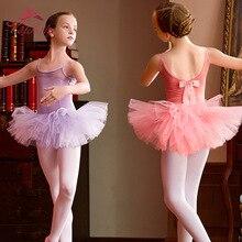 Балетное платье для девочек танцевальная одежда-пачка трико для девочек, танцевальные костюмы с пачкой, детский танцор балет, одежда для балерины