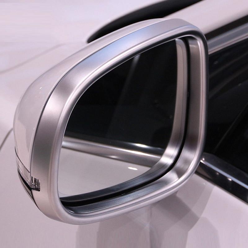 Pour Jaguar XE 2015-2017 XF/XFL 2011-2016 XJ/XJL 2010-2016 Chrome ABS rétroviseur cadre garniture accessoires de voiture