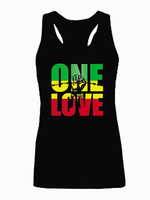 Bob Marley One Love Jamaica Reggae Adult Tank Tops Women S Sleeveless Laides Cool Summer Raceback