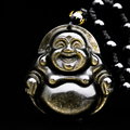 Bead Curtain Natural Black Obsidian Scrub Carved Statue Lucky Necklace Pendant Jewelry Head Pendants Transhipped Buddha Head