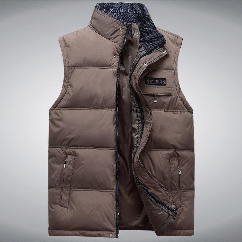 2017 männer Sleeveless Weste Homme Winter Lässige Mäntel - Herrenbekleidung - Foto 4