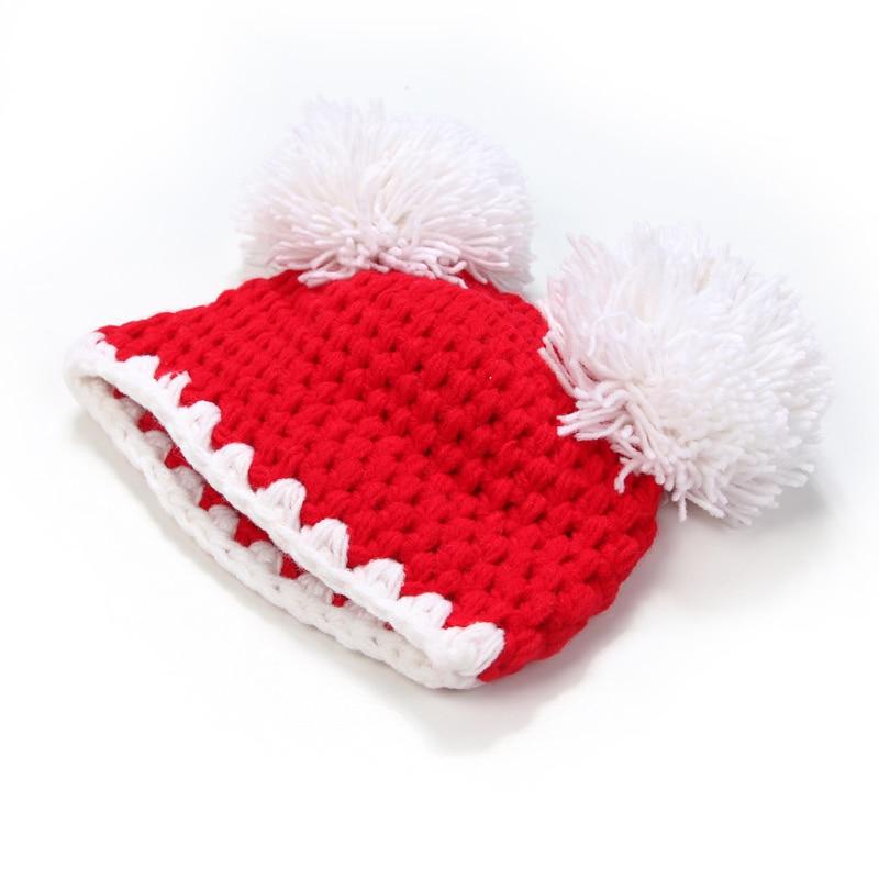 Novorozenec dětská vlna dětský klobouk Joker klobouk ruční pletené čepice 100% ručně vyrobené kojenecké stovky dní rekvizity fotografie 0-3 měsíce