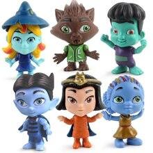 6 pçs/set Monstro Toy Figuras Super Boneca PVC Anime Action Figure Modelo Boneca Brinquedos de Presente