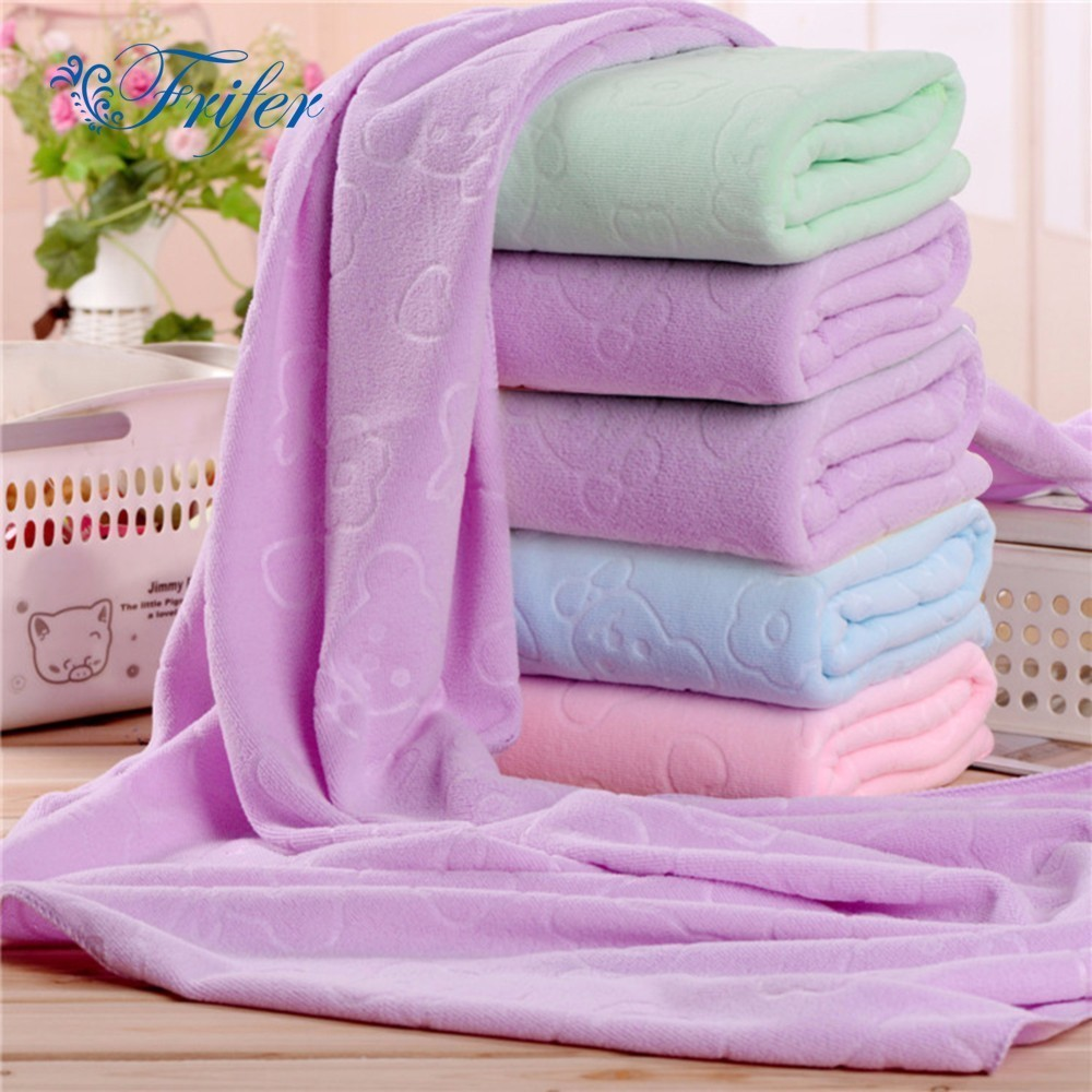 140 * 70cm Little Bear Patterns Embossed Beach Towel Super Absorbent Sport Towels Gym Fast Drying Large Quick-dry Bath Towel
