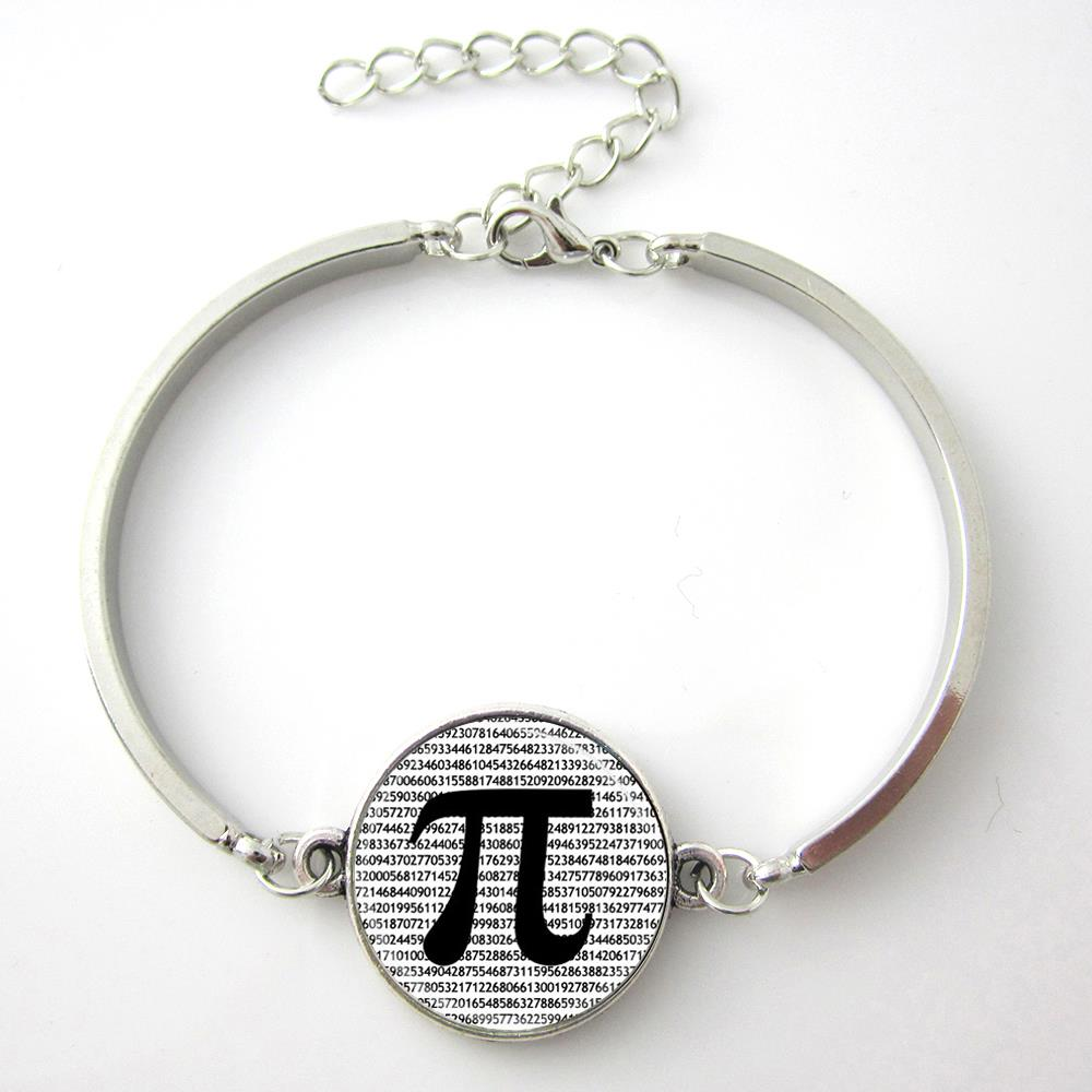 TAFREE Brand Vintage PI Bracelet Math Teachers Jewelry Science Bangle Mathematics Black and White Art Charms men women Gift D167