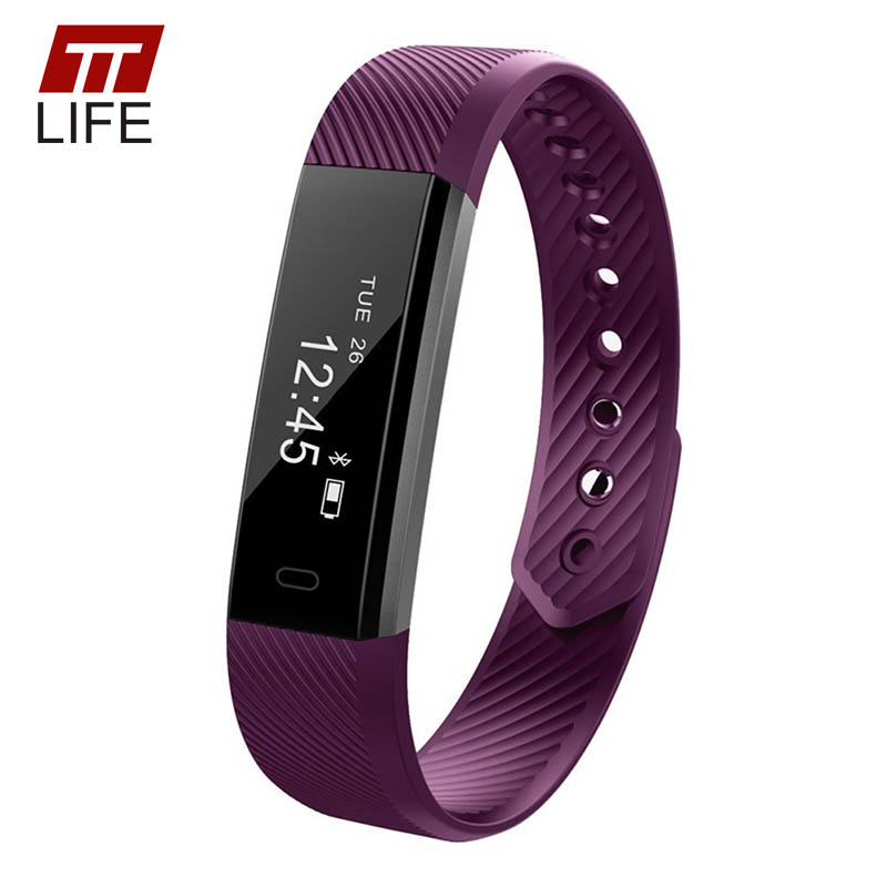 TTLIFE ID115 Smart Bracelet Fitness Tracker Step Counter Activity Monitor Band Alarm Clock Vibration Wristband For Android IOS