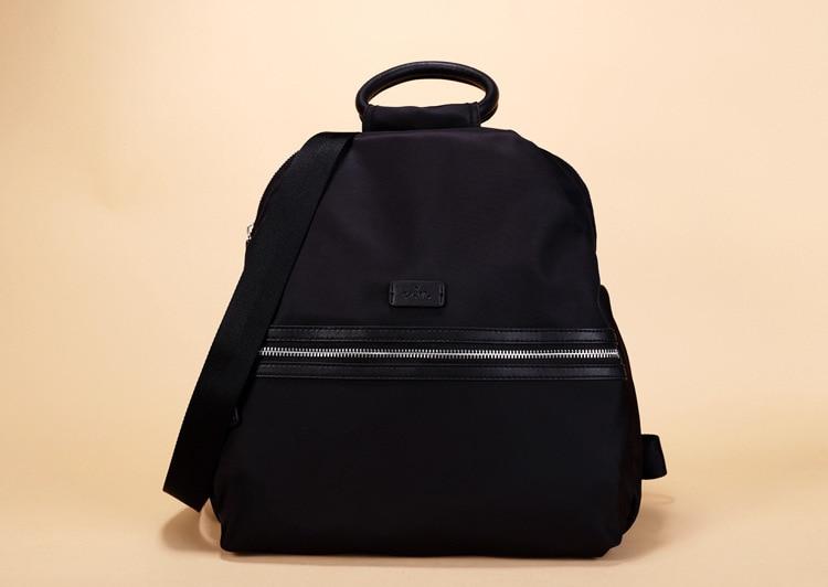 New 2016 waterproof nylon fabric bag  fashion female package shoulders backpack Leather travel bag  women bag new waterproof nylon