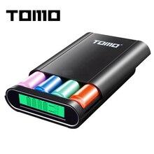 Томо T4 Мощность банка 18650 Li-Ion Батарея Зарядное устройство DIY двойной Выход интеллектуальных мобильных Мощность банк без батареи