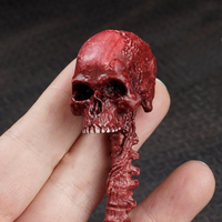 1 6th Scale Red Zombie Skull Skeleton Head Model Resident Evil Scenes Accessories For 12 Figures