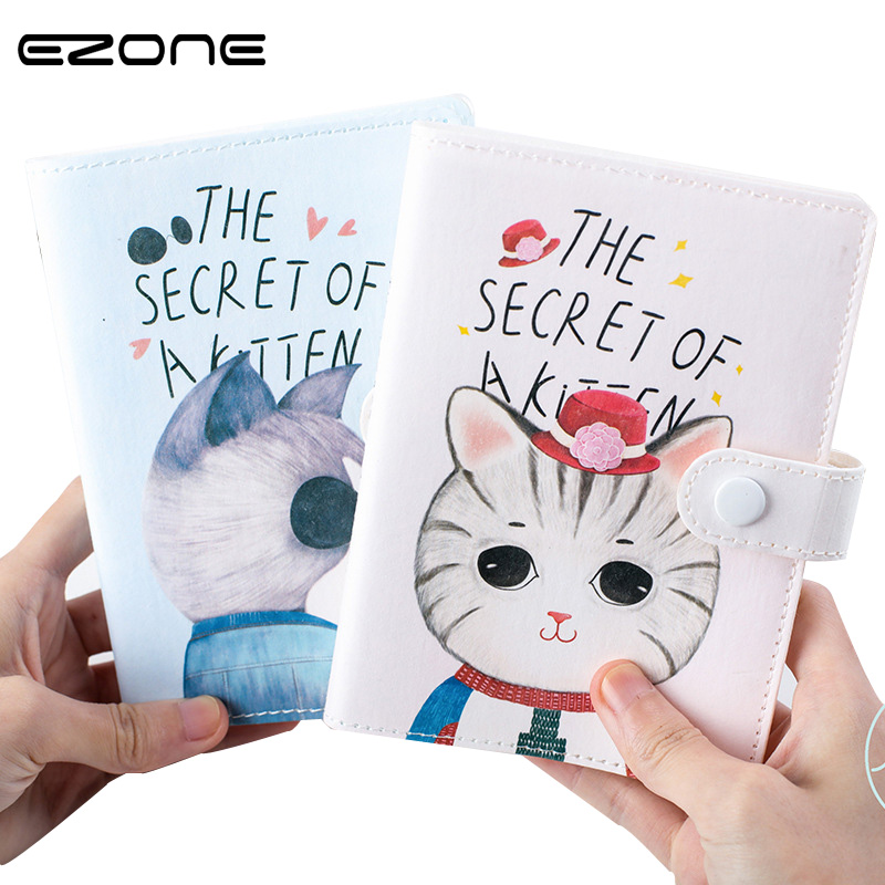 EZONE 1PC Cute Cat Weekly Daily Planner Study Notebook Journal  THE SECRET OF A KITTEN Creative Diary Planner Organizer Agenda my secret place a gorjuss guided journal hb