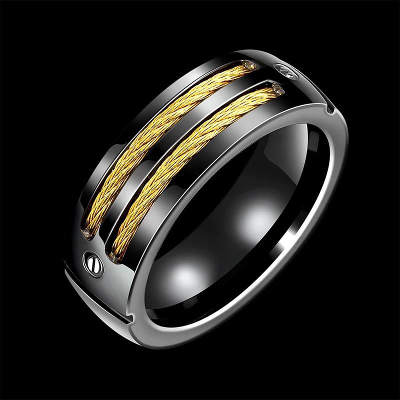 Zouru Brand High Quality Black Titanium With Yellow Twisted