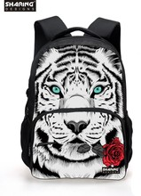 Cool Children 3D Animal Felt Backpack Men's Backpack Tiger Face Printing Bag for School Girls College Student Bagpack Retail