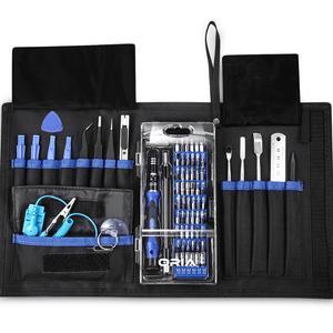 ORIA 76-w 1 Precision śrubokręt wkrętak zestaw narzędzi do naprawy narzędzie zestaw precyzyjne 8/8 Plus/telefon/konsola do gier/Tablet wkrętaki z przenośna torba