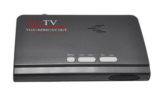 HD TV box DVB T2 Terrestrische ontvanger DVB-T2 DVB T Ondersteuning VGA + HDMI + AV OUT voor RUSLAND / Europa / Centraal-Azië / Columbia DVBS918