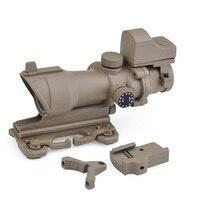 SEIGNEER ACOG 4x32 винтовка Зрительная труба красный/зеленый сетка с креплением для охоты Тактический с QD креплением и мини Красный точка зрения