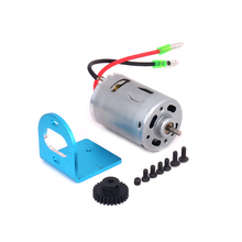 RCAWD 1set Adjustable Motor Amount+540 Motor w/Fan For Rc Hobby Model Car 1/18 Wltoys A959 A969 A979 K929 6061-T6 Hopup Parts