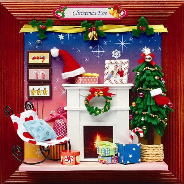 13627 wholesale Hongda Album diy dollhouse on Christmas wooden diy model toy house dollhouse miniature free shipping