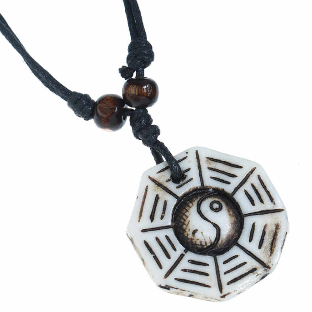 collier ying yang homme