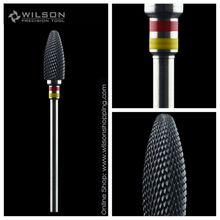 Форма пули-двойная тонкая черная керамика(6410801)-WILSON керамический сверло для ногтей& циркониевые керамические стоматологические боры