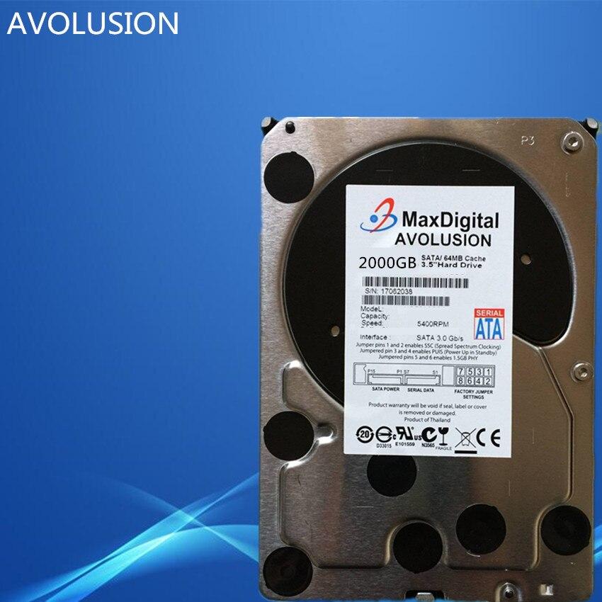 2000GB SATA 3.5 Enterprise Grade Security CCTV Hard Drive Warranty for 1-year hard drive 390 0122 05 3 5 73gb 10k scsi 8mb one year warranty