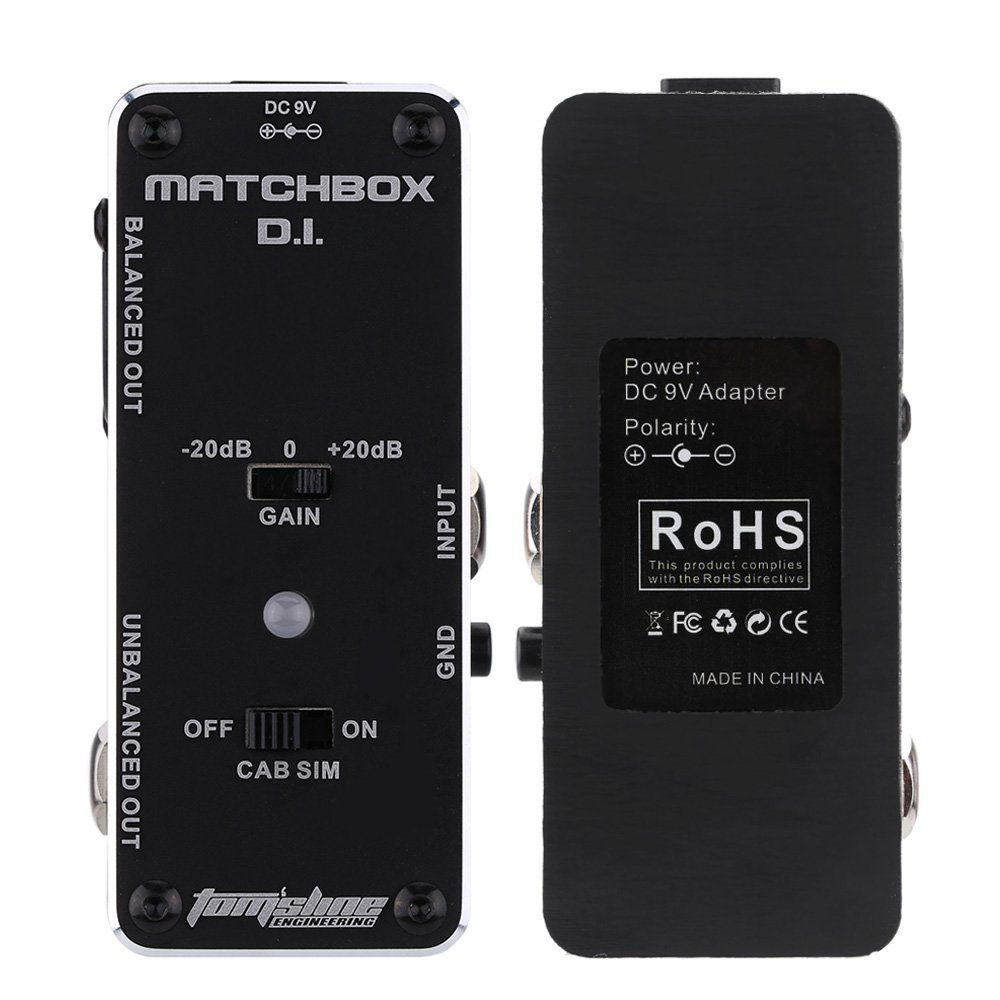 AROMA AMX-3 MATCHBOX D.I. Guitar Pedal Transfer Guitar Bass Signal to Audio System Mini Analogue Guitar Effect Pedal True Bypass aroma pure echo digital delay guitar effect mini analogue pedal ape 3 true bypass metal shell level knob durable accurate