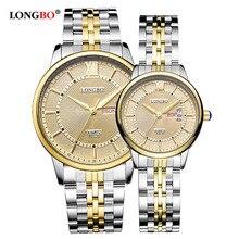 Для мужчин/Для женщин простой Повседневное Стиль Нержавеющаясталь ремешок для часов круглый циферблат Дата Календарь Водонепроницаемый пары Для мужчин часы наручные часы 80079