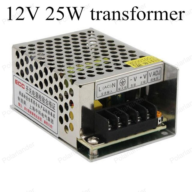 Импульсный источник Питания для СВЕТОДИОДНЫЕ Полосы света Трансформатор Питания Драйвер Для прокладки СИД AC110/220 В для DC 12 В 25 Вт бесплатная доставка