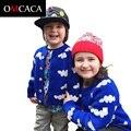 Cardigan meninos roupas de menina bebê tricô camisola bonito Nuvem padrão manga comprida meninas cardigan infantil 3-CA004