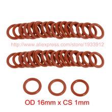 OD 16mm x CS 1mm silicone o-ring o ring oring sealing rings rubber gasket