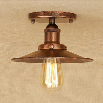 Vintage Lampu Langit-langit Modern Industri LED Lampu Retro Besi Hitam Plafon Lampu Ruang Tamu Kamar Tidur Koridor E27 110 V