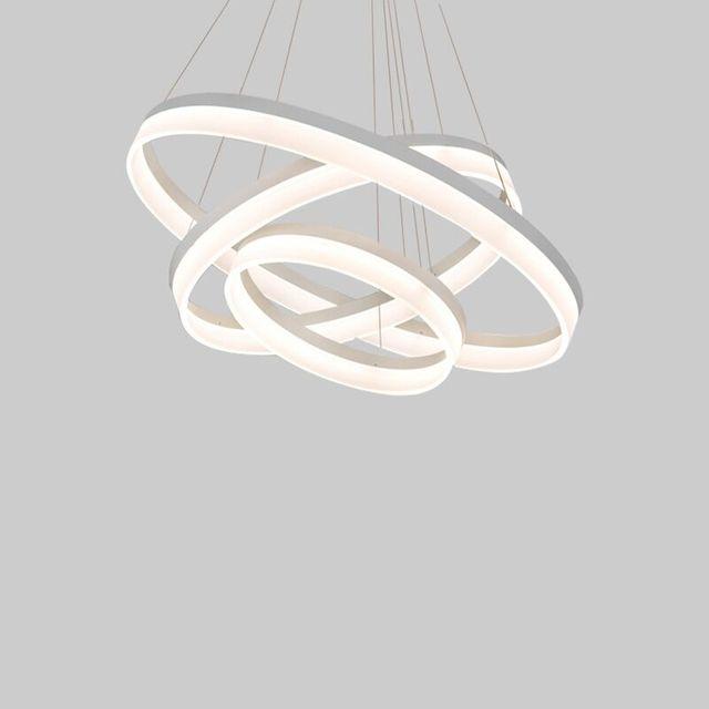 Fernbedienung Moderne Kreative Pendelleuchte Wohnzimmer Esszimmer 3/2 Kreis  Ringe Acryl Aluminium Körper LED Leuchte