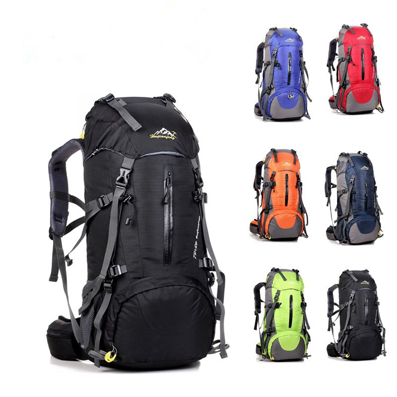 Waterproof Travel 50L Hiking Backpack, Sports Backpack For Women Men, Outdoor Camping Climbing Bag, Mountaineering Rucksack waterproof travel 50l hiking backpack sports backpack for women men outdoor camping climbing bag mountaineering rucksack