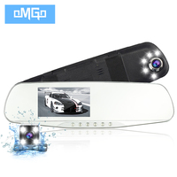 Dual Lens Car Camera Rearview Mirror Cars DVR Dash Cam Auto DVRs Recorder Video Registrator FHD1080p