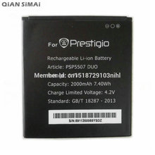 QiAN SiMAi 2000mAh High Quality Battery For Prestigio PSP5507 DUO Battery Bateria Accumulator+ Tracking Cord