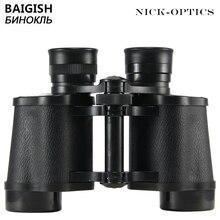 Binóculos baigish russo 8x30 profissional, telescópio militar, visão noturna lll hd, para caça, viagem, lente fmc