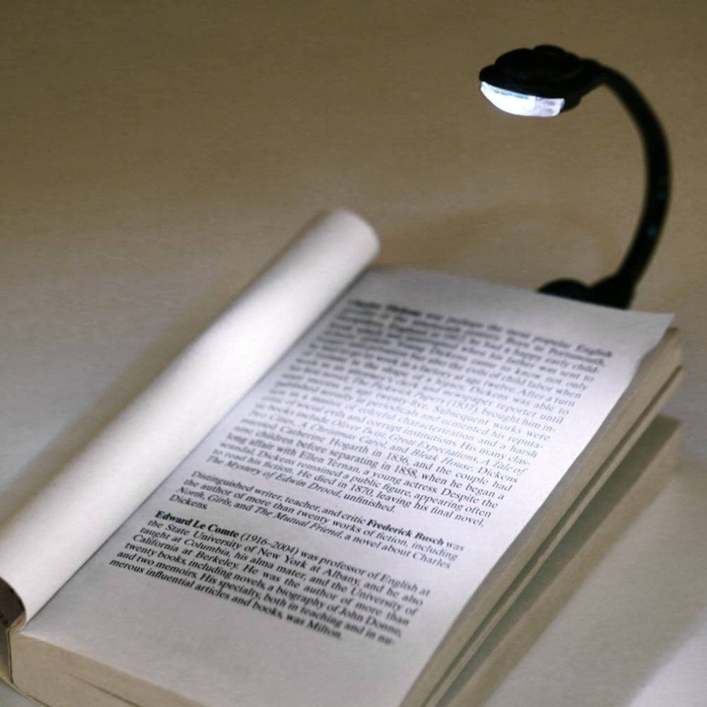 Mini Portable Student Dormitory Lights Clip-On Self Defend Flashlight Book Light Laptop White LED Book Reading Lamp