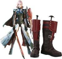 Relâmpagos Retorna: Final Fantasy XIII Relâmpago Cosplay Shoes Botas Custom Made