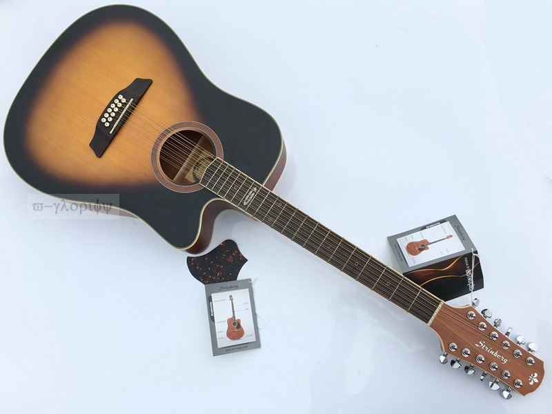 high quality 41inch 12 string acoustic guitar with tuner in guitar from sports entertainment. Black Bedroom Furniture Sets. Home Design Ideas