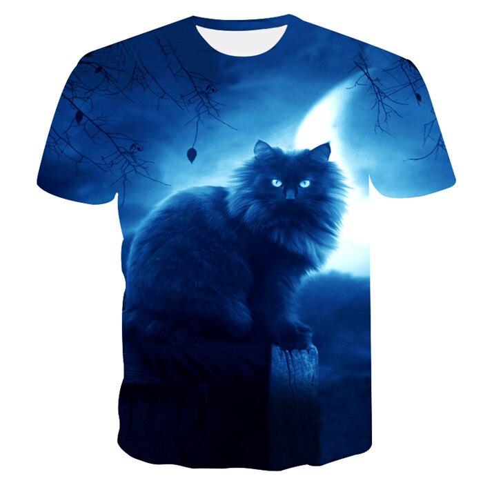 Новинка, футболка для мужчин/женщин, 3d принт, мяу, черный, белый, кот, хип-хоп, Мультяшные футболки, летние топы, футболки, модные 3d футболки, M-5XL - Цвет: txu-151