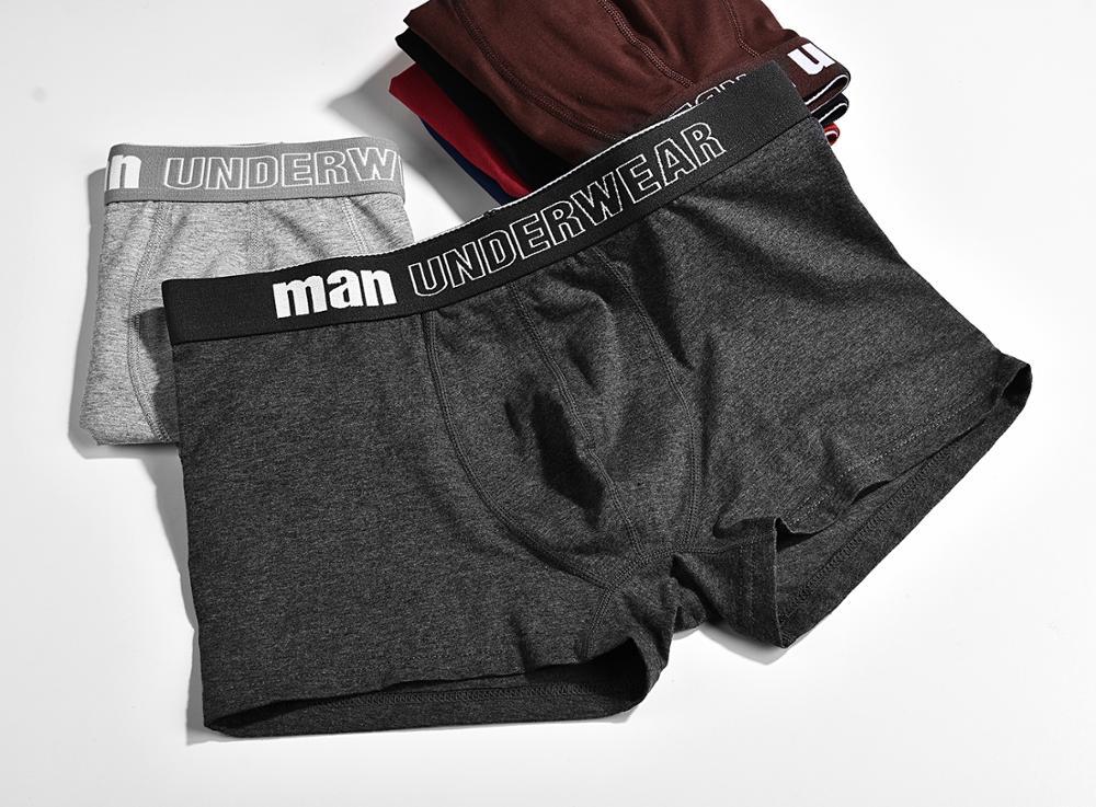 2019 Panties Mens 4Pcs lot Underwear Organic Natural Cotton Boxers Men Sexy Boxers Ventilate Plus Size Boxers L XL XXL XXXL in Boxers from Underwear Sleepwears