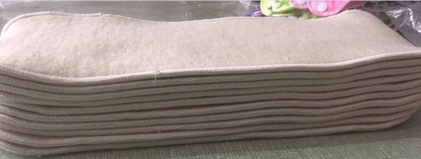 Hotsale 3 Layers of Hemp Organic Cotton Diaper Inserts for Children & Adults 24 pcs changing pads