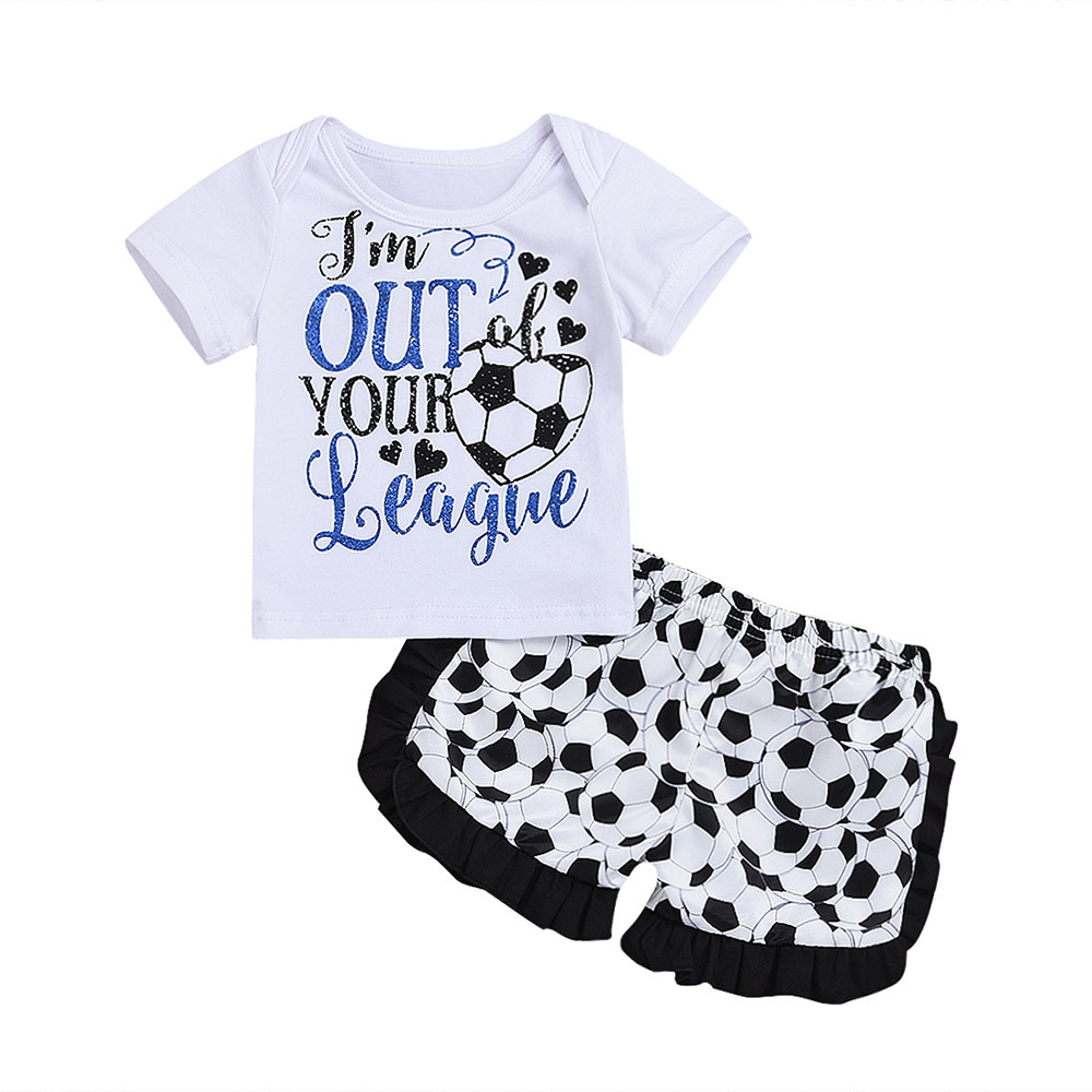 Baby Boys Girls Russia Football Printed Clothes Tops T-Shirt Shorts Set Outfits casual s ...