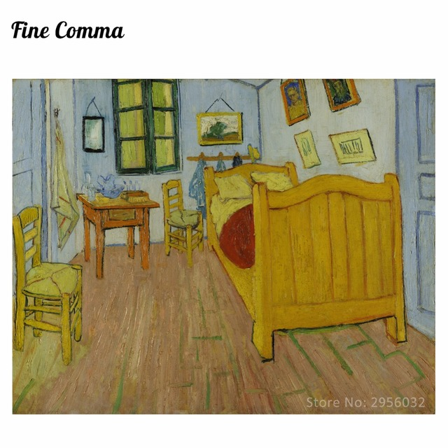 Bedroom In Arles 2nd Version By Vincent Van Gogh Hand Painted Oil Painting  Reproduction Replica Wall