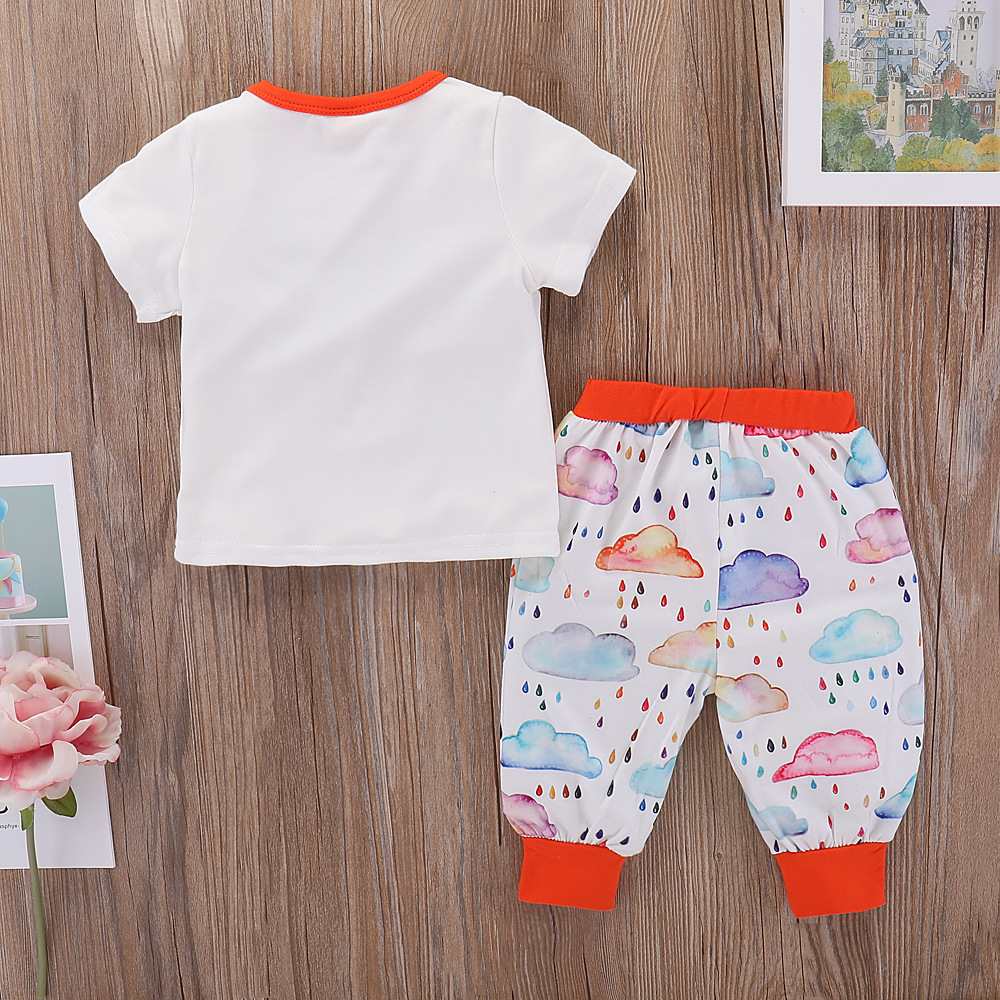 Baby Unisex Clothing Summer Cute Outfits For Newborn Boys Girls Short Sleeve Clothes Sets Fashion T-Shirts + Pants Leggings Suit
