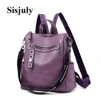 2019 Designer Backpacks Women Leather Backpacks Female School BagS for Teenager Girls Travel Back Bag Retro Bagpack Sac a Dos